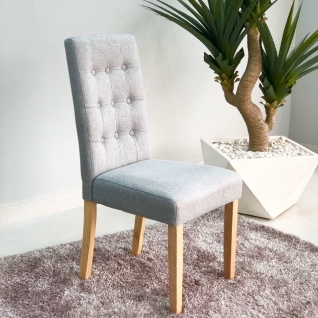Aitor Gray Natural Legs Dinning Chair