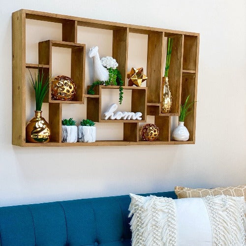 Delmiro Large Wooden Square Shelf