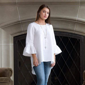 Bella Bell Sleeve Linen Top available in 4 colors