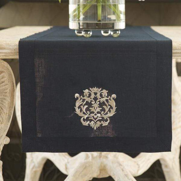 Crown Linen Designs Damask Table Runner 3 colors/3 sizes