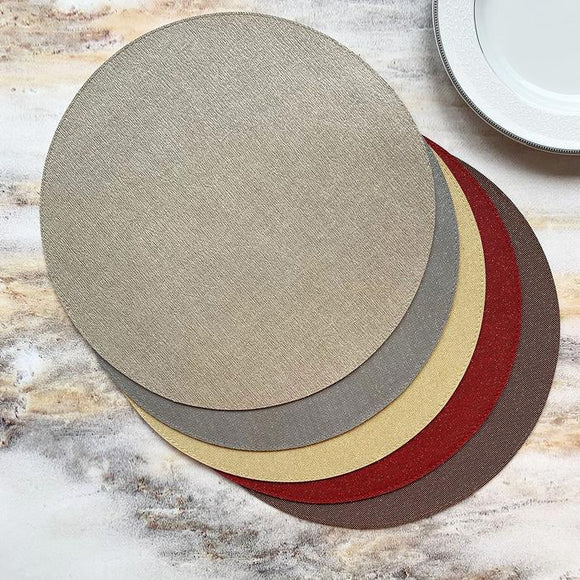 Bodrum Gem Round Placemat Set/4  available in 5 colors