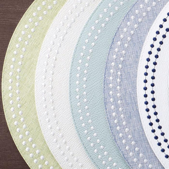 Bodrum Pearls Round Placemat Set/4 available in 10 colors
