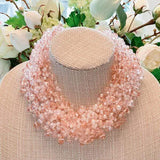 Crystal Bead Cluster Necklace available in 2 colors