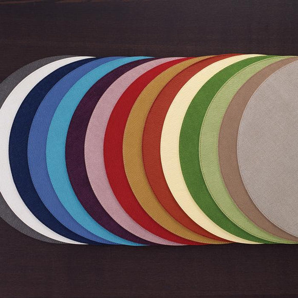 Bodrum Presto Round Placemat set/4 available in 16 colors