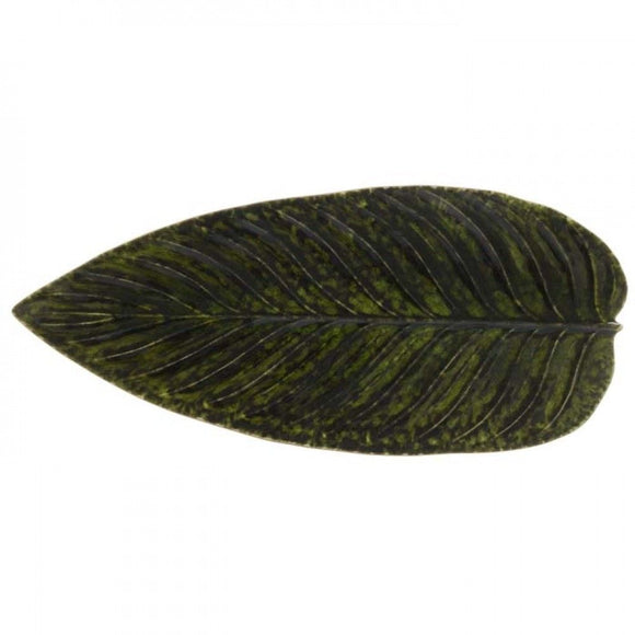Costa Nova Riviera Strelizia leaf tray available in 2 colors