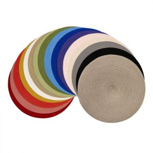 Deborah Rhodes Round Braid Linen Placemat Set/4 available in 37 colors