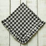 Crown Linen Designs Checkered Ruffle Napkin 19