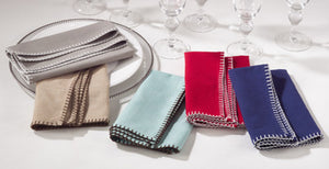 "Whip Stitch Napkin 20""  set/4 available in 5 Colors"