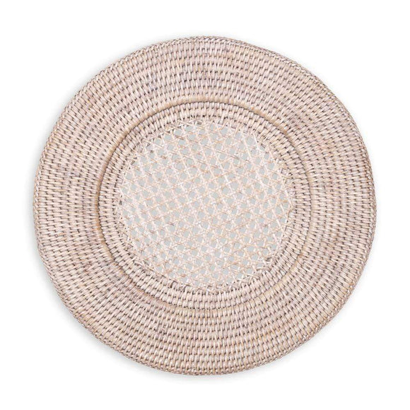 Caspari Rattan Charger set/4 available in 2 colors