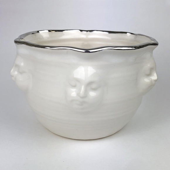 White with Platinum Face Bowl