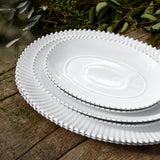 Costa Nova Pearl White Oval Platters available in 3 sizes