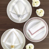 "Bodrum Pearls Napkin 21"" set of 4"