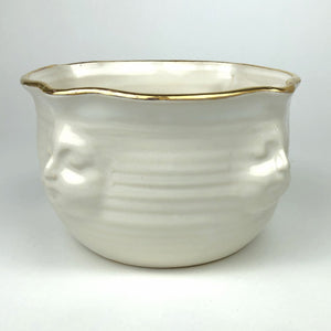 White with Gold Face Bowl small