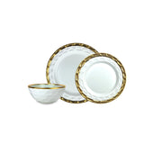 Truro White with Gold Dinner Plate