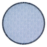 Bodrum Whipstitch Round Placemat set/4