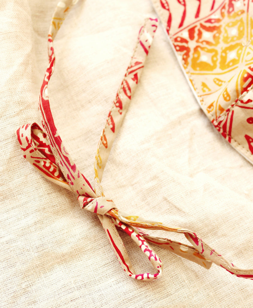RED JAVA 3-ply Batik Face Mask with Adjustable Ties