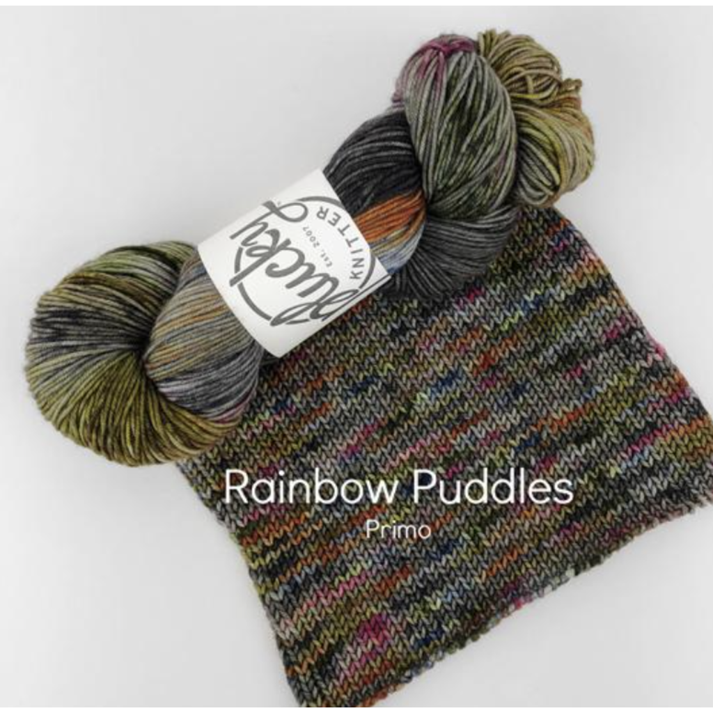 Plucky Knitter - Solo - Rainbow Puddles - Shoptinkknit