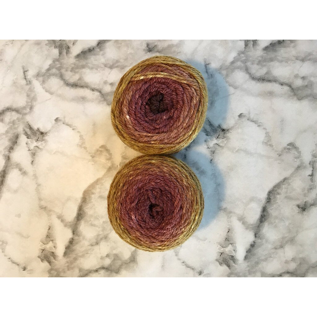 2 Skeins OMBRÉ WORSTED YARN - Maple