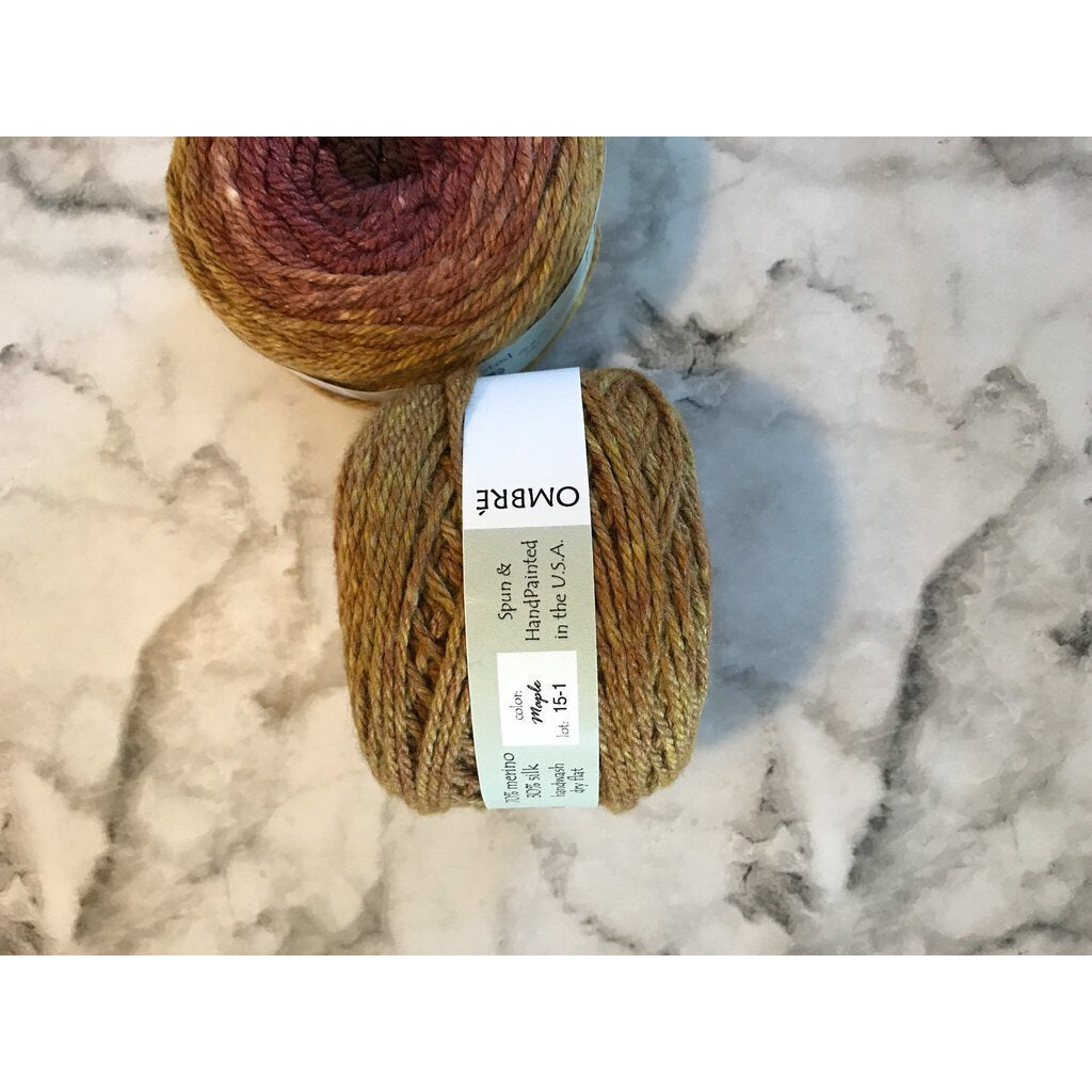 2 Skeins OMBRÉ WORSTED YARN - Maple - Shoptinkknit