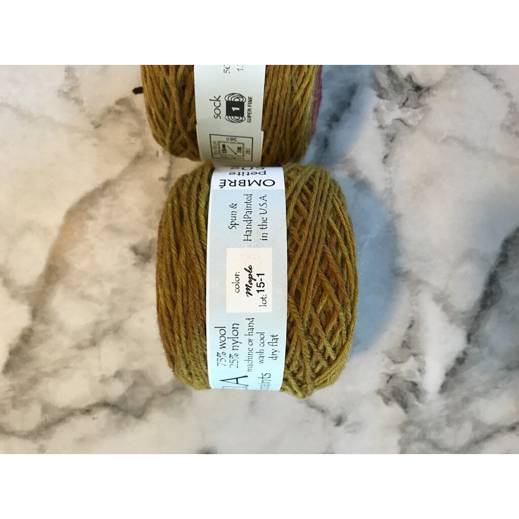 2 Skeins OMBRÉ SOCK YARN Petite - Maple - Shoptinkknit
