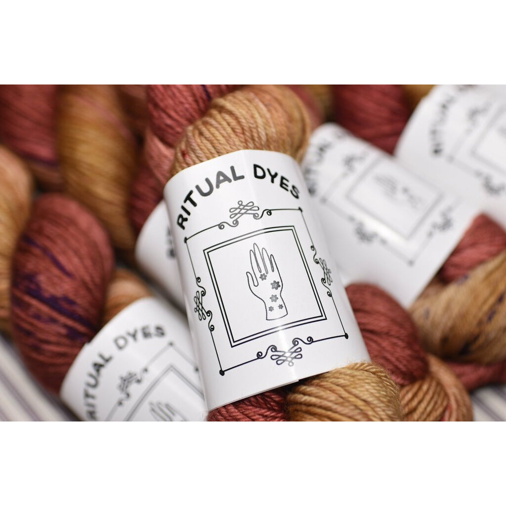 SALE SALE SALE Ritual Dyes Dk Priestess in Rose Gold - 6 Skeins Retail $120 Sale $78 - Shoptinkknit