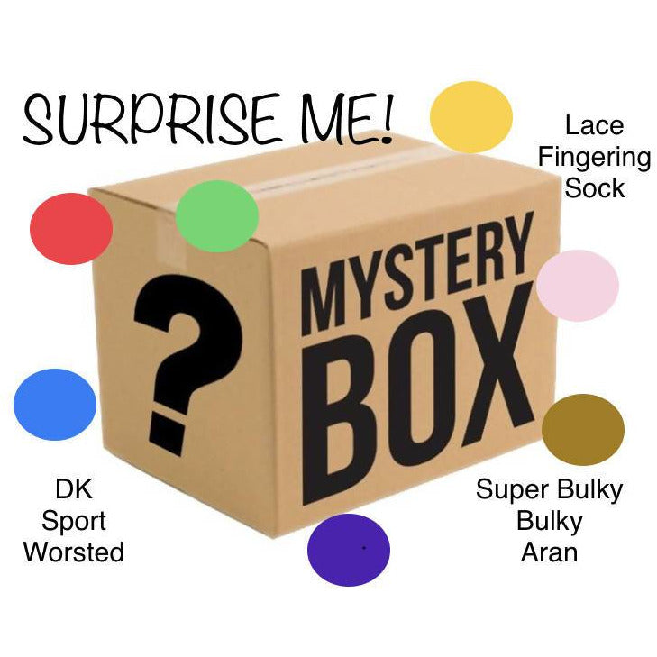 MYSTERY BOX OF YARN - SURPRISE ME! - Shoptinkknit