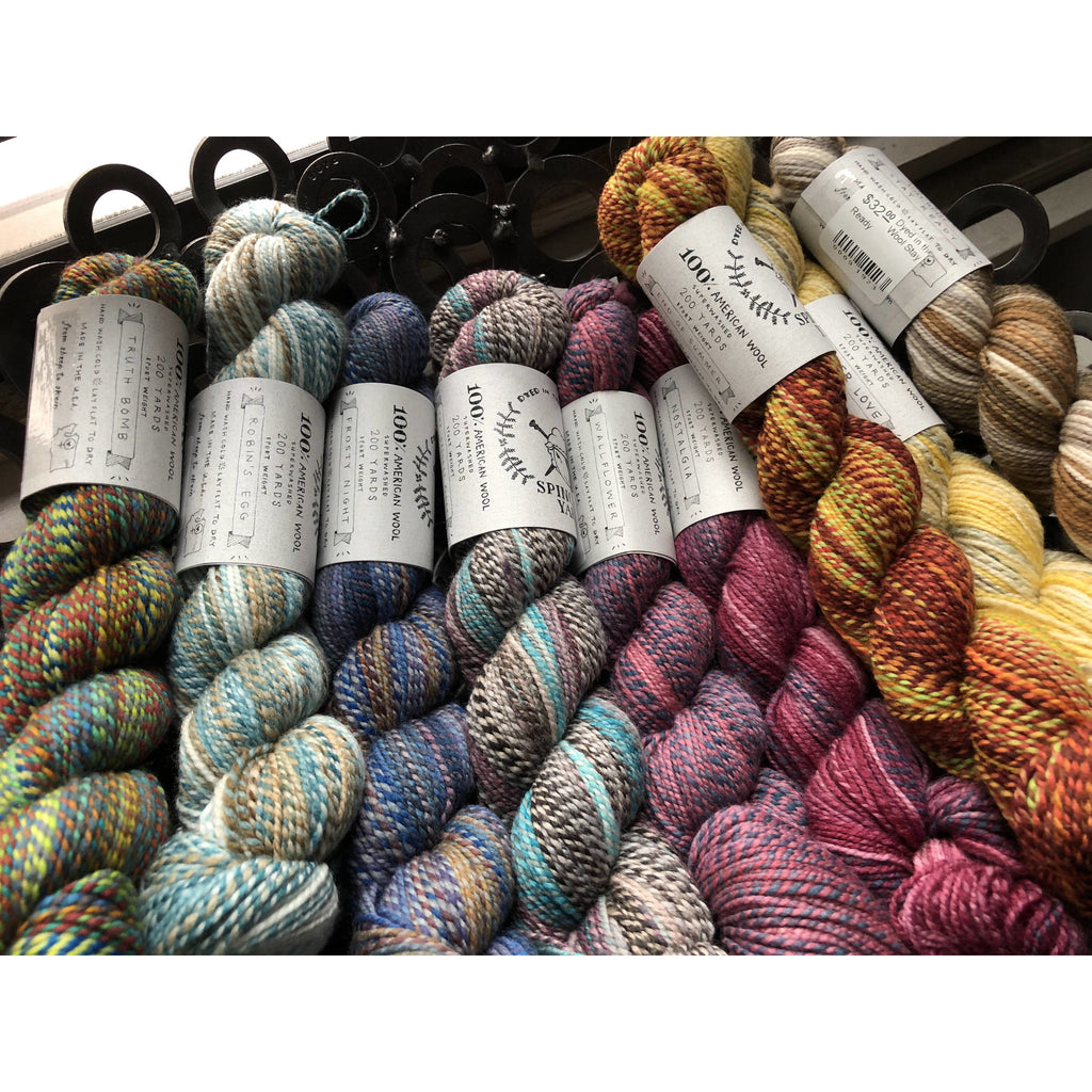 Bundle of Spincycle Yarns Dyed In The Wool - 9 Skeins/9 Colors! - Shoptinkknit