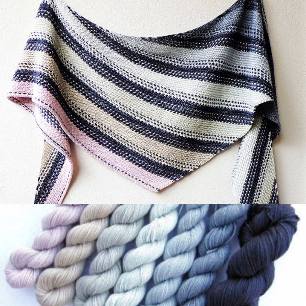 STONE LAYERS SHAWL KIT from SUNSHINE YARNS in Original Colors by Lisa Hannes - Shoptinkknit