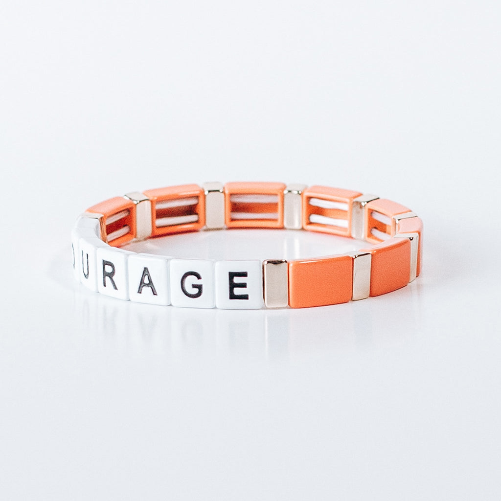 Block Bracelet -COURAGE