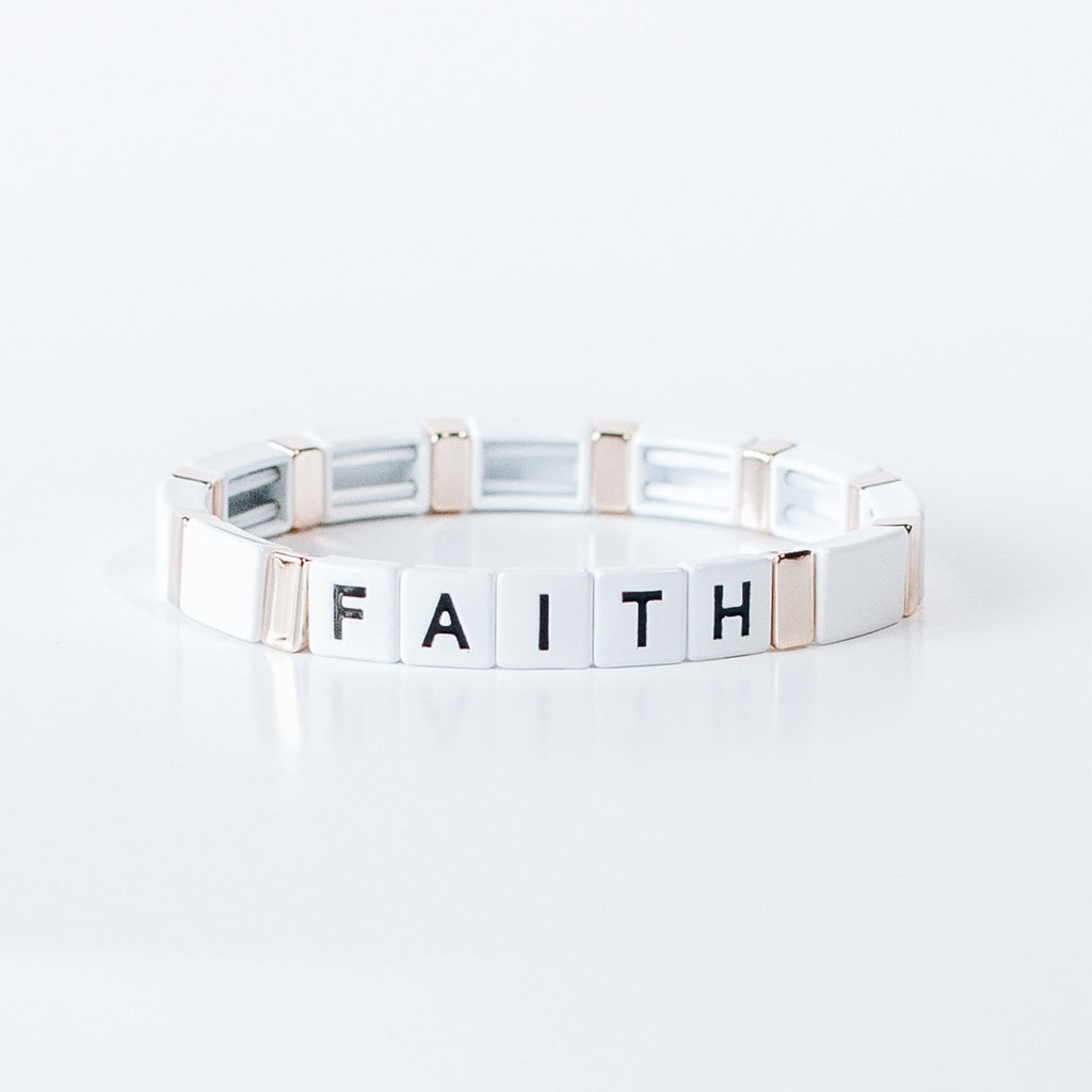 Block Bracelet - FAITH