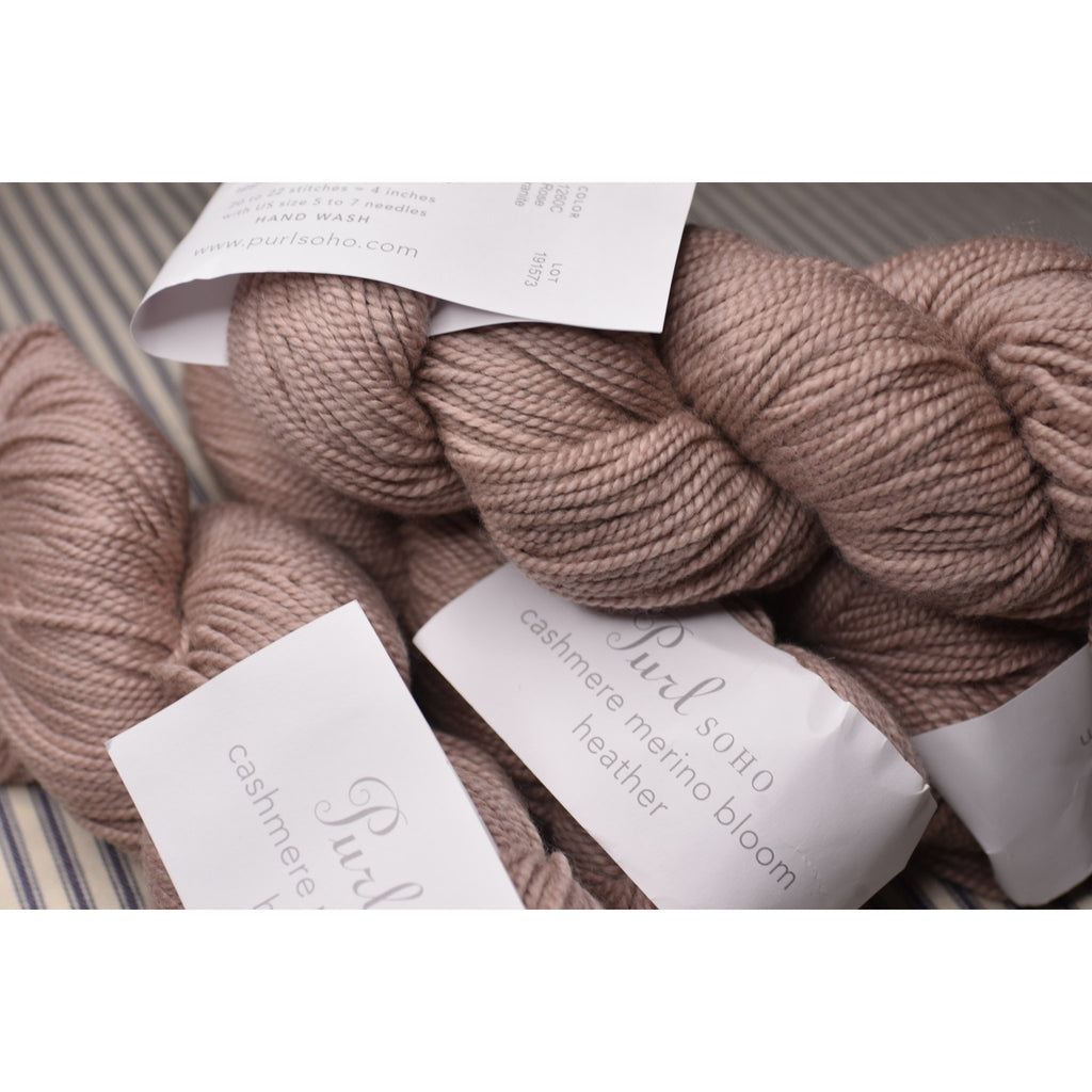 Purl SOHO- Cashmere Merino Bloom Heather - Rose Granite - Shoptinkknit