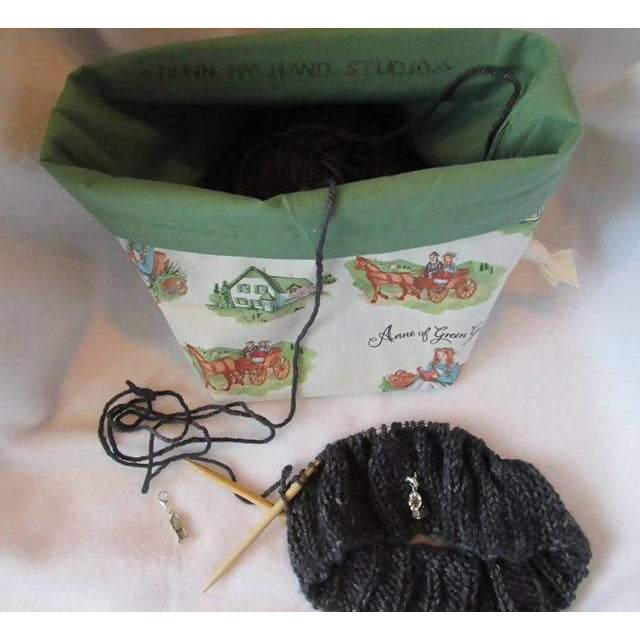 Anne of Green Gables Handy style drawstring bag 2 skein size - Shoptinkknit