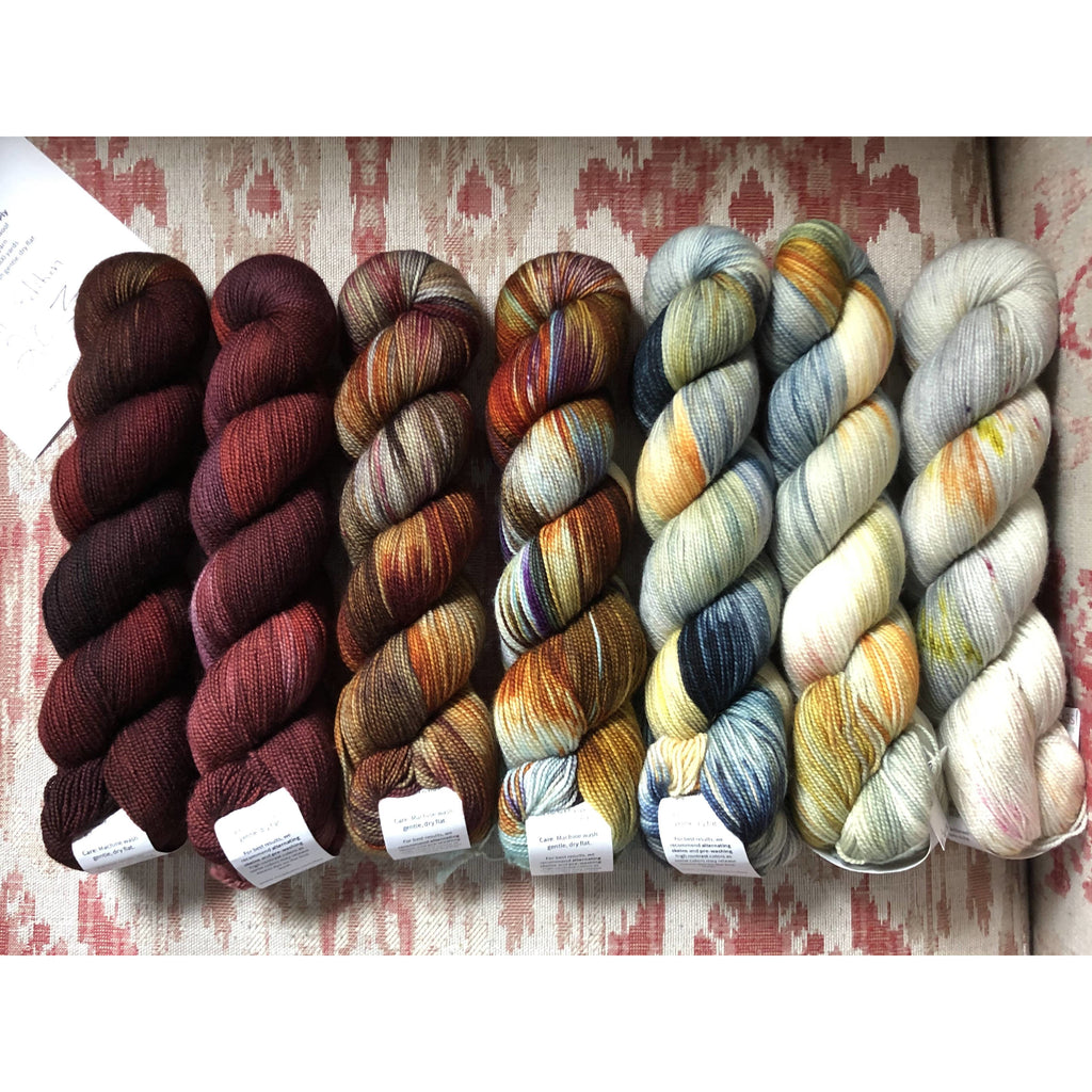 MISS BABS Special Edition 203 Find Your Fade Set - 7 Skeins of Yummy 2-Ply Yarn - Shoptinkknit