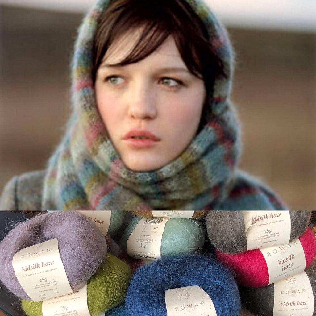 ROWAN KIDSILK HAZE EARTH STRIPE WRAP Knitting Yarn Kit and Pattern - ORIGINAL COLORS and PATTERN - Shoptinkknit