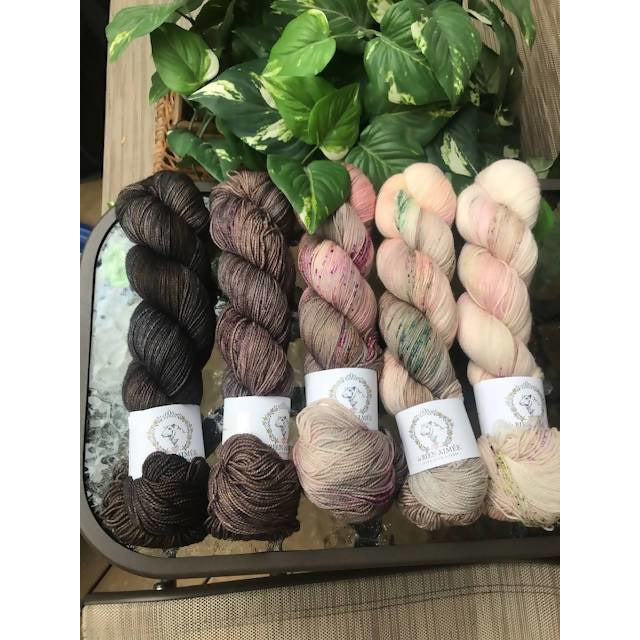 La Bien Aimee Merino Twist Sock Yarn Fade Set - Shoptinkknit