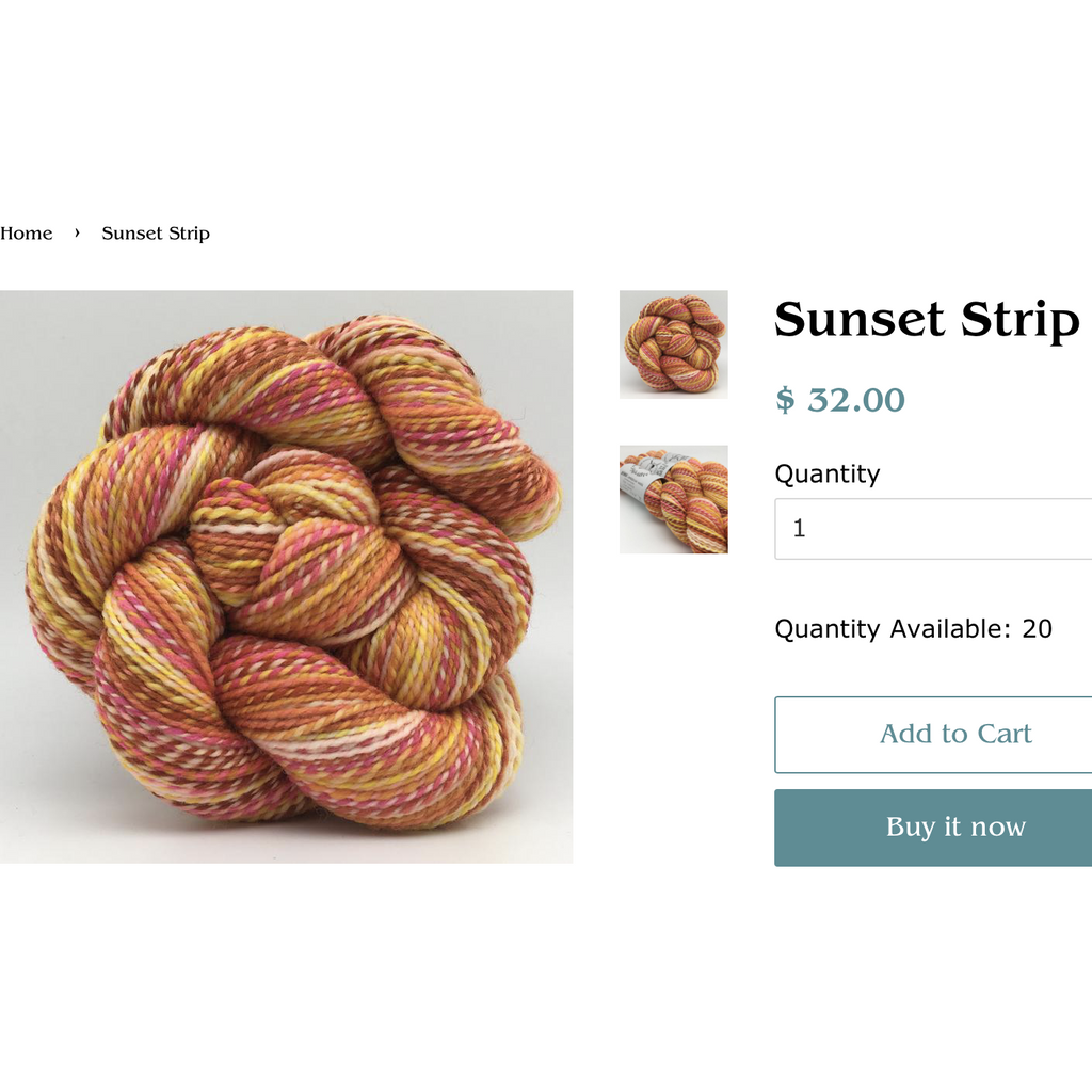 Spincycle Dyed In The Wool – Sunset Strip - 4 Available! - Shoptinkknit