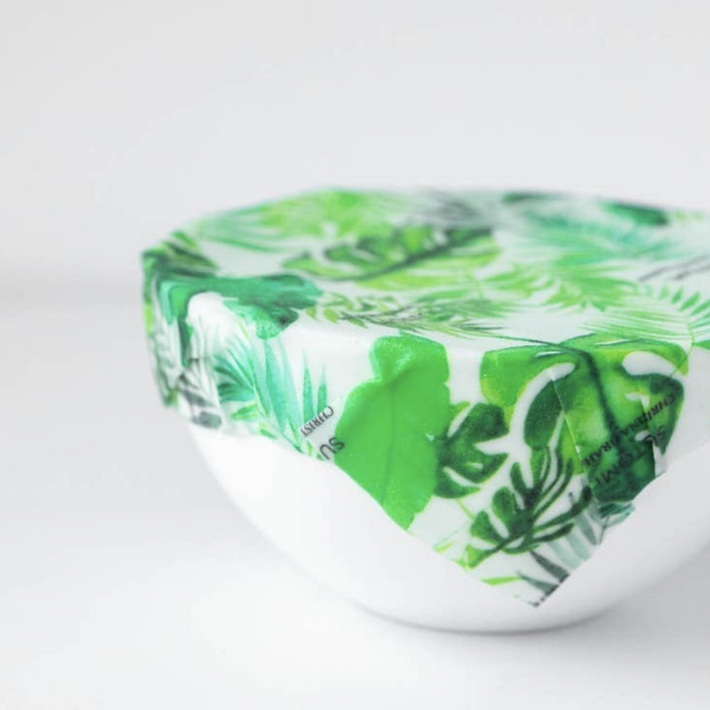 Beeswax Wraps - Pack of 3 - Tropical Fronds - Shoptinkknit