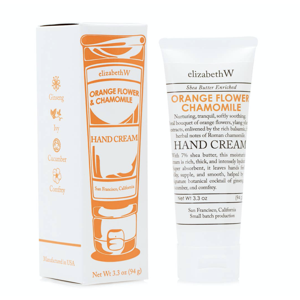 Hand Cream - 3.3 oz Orange Flower Chamomile - Shoptinkknit