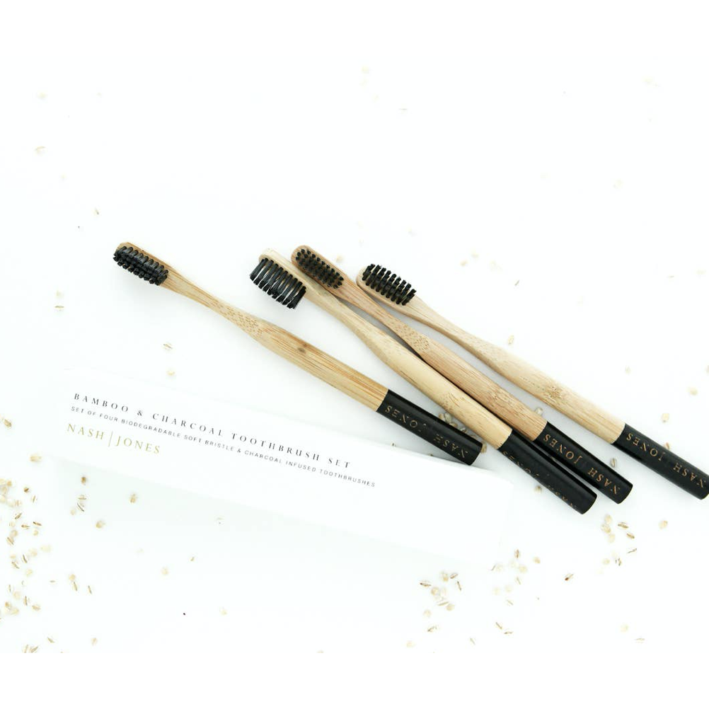 Bamboo & Charcoal Toothbrushes - Shoptinkknit