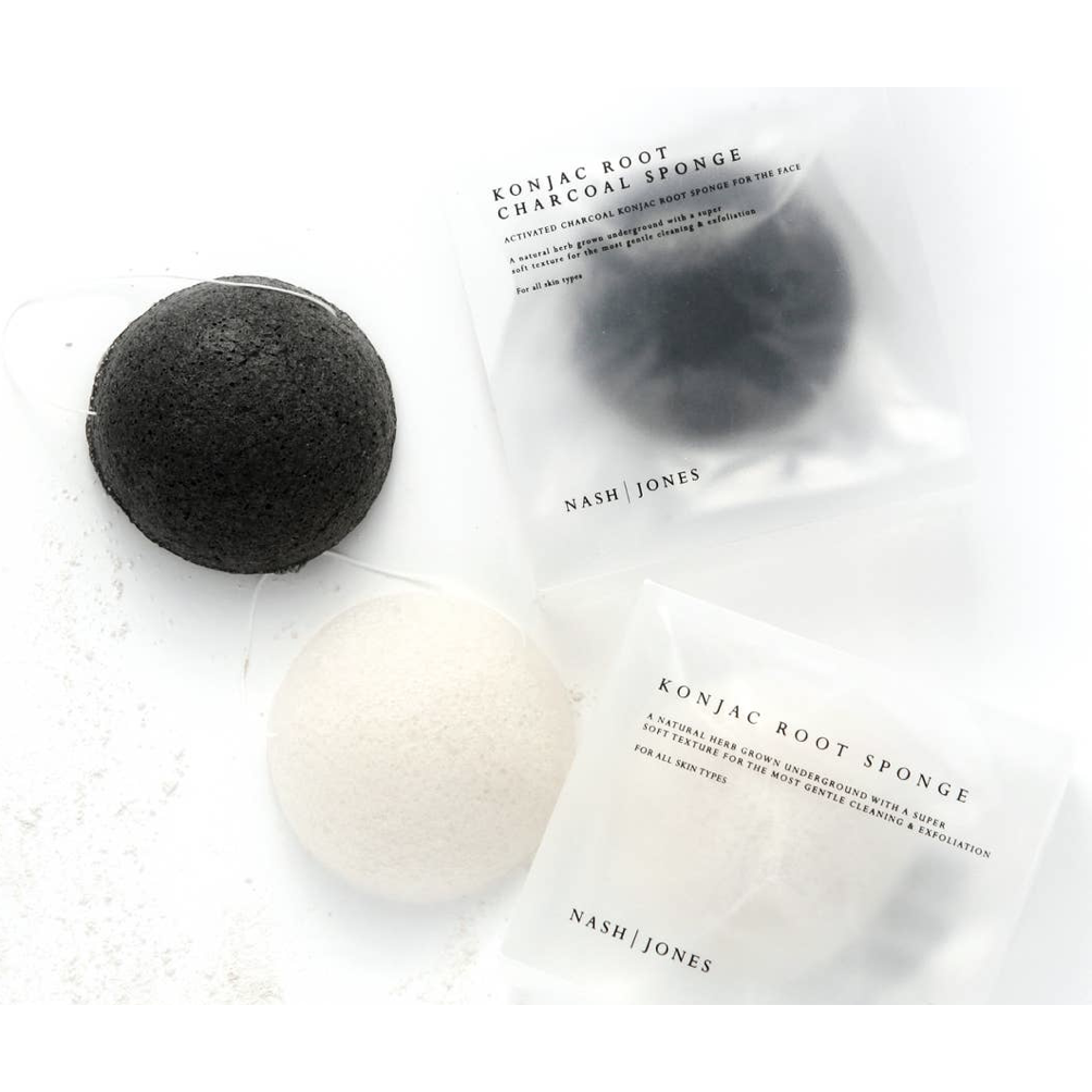 Konjac Face Sponges - Black - Shoptinkknit