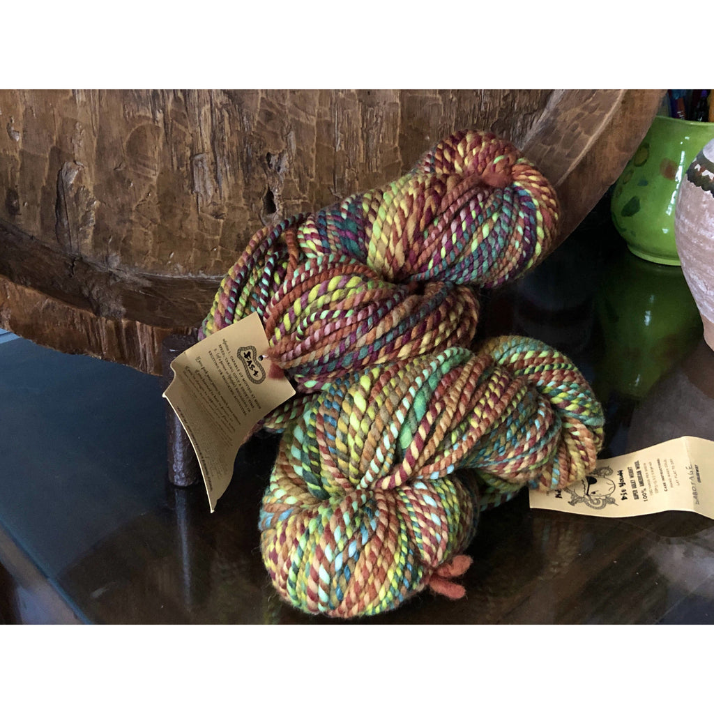 Two Skeins Spincycle Knit Fast Die Young Super Bulky Yarn - Sabotage - 200yds