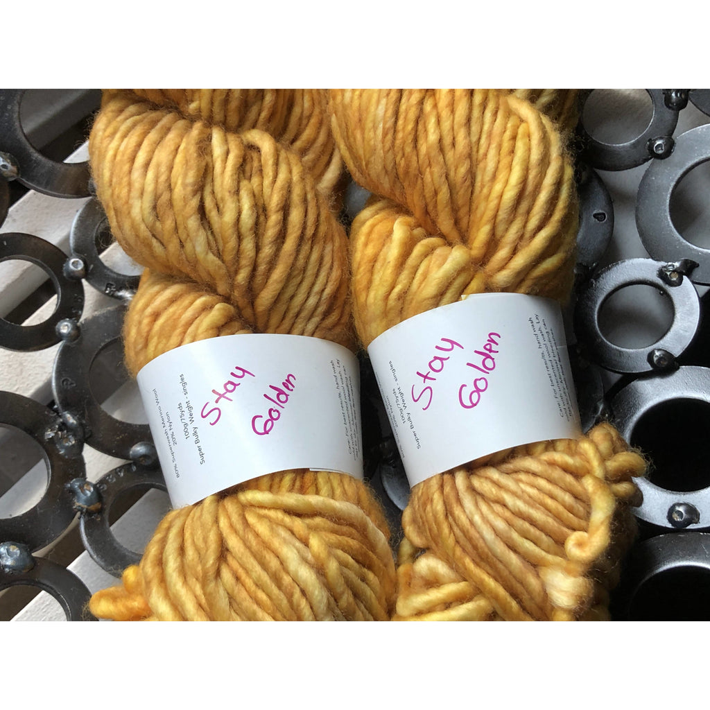 Two (2) Skeins of Lolodidit Lo Biggity Yarn - Super Bulky Weight 75 yds/skein - Shoptinkknit