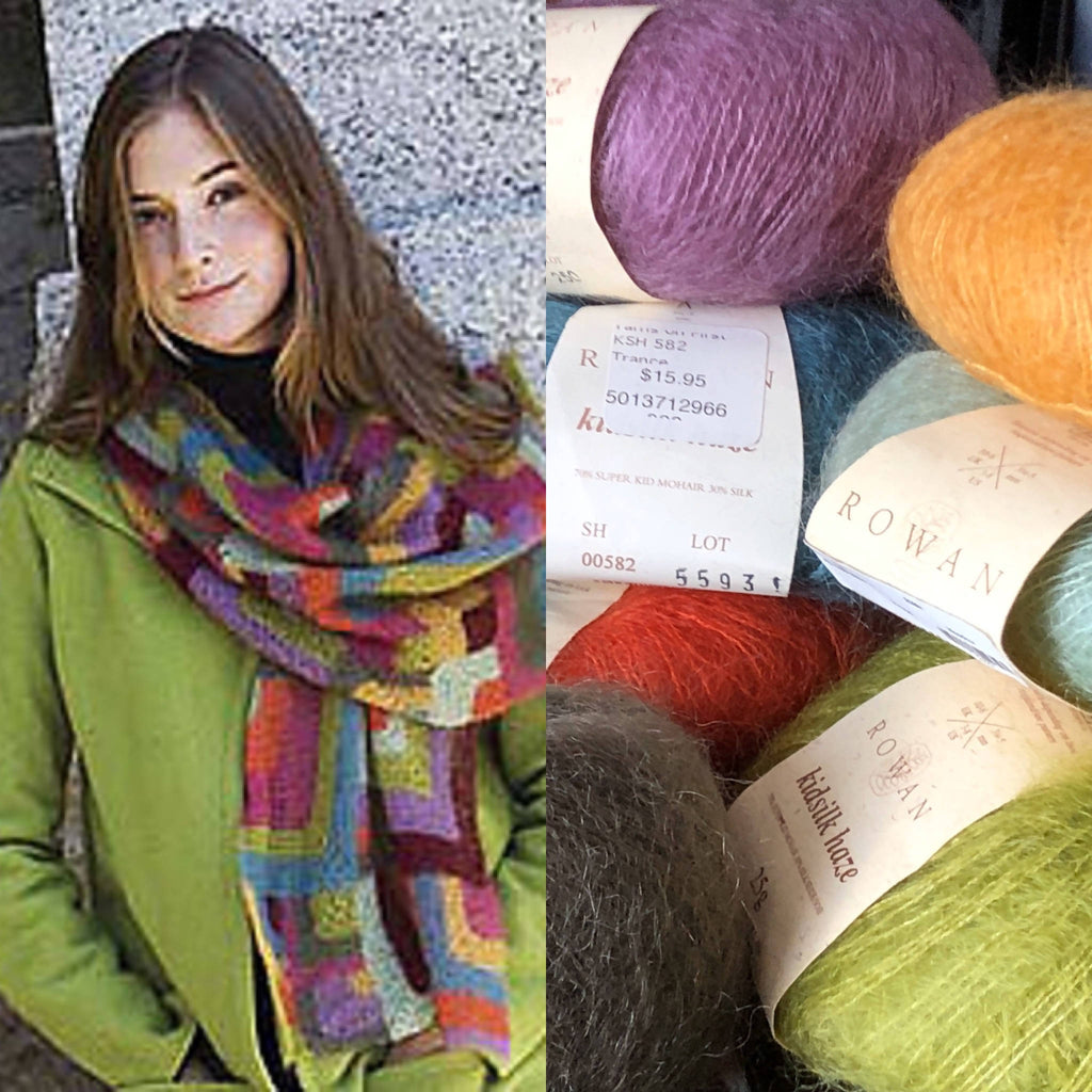 ROWAN KIDSILK HAZE MODERN QUILT WRAP Knitting Kit and Pattern - ORIGINAL COLORS! - Shoptinkknit