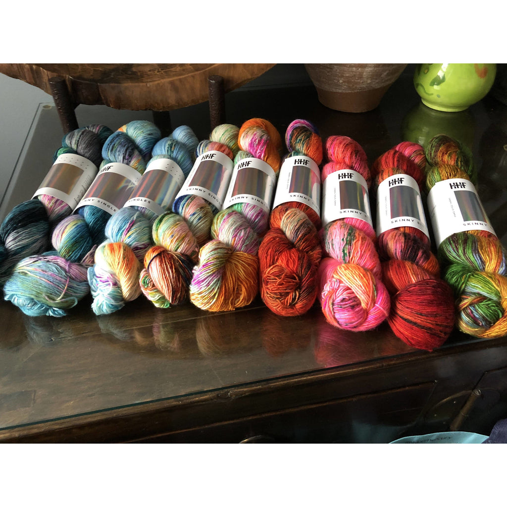 Nine (9) Skeins Hedgehog Fibres Yarn Skinny Singles from HHF Fade Club! - Shoptinkknit