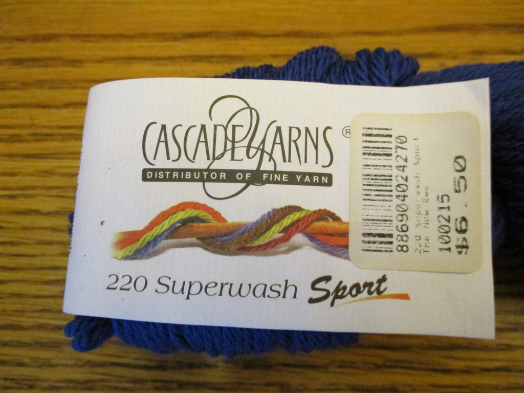 9 Cascade Yarns 220 Superwash Sport - Blue Velvet (813)