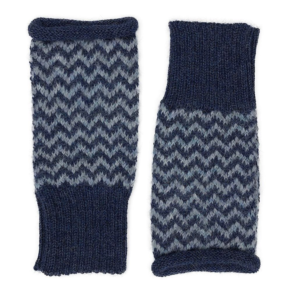 Azul Chevron Knit Alpaca Gloves