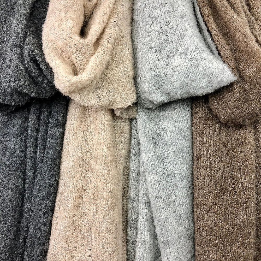 Charcoal Ultra Plush Alpaca Scarf