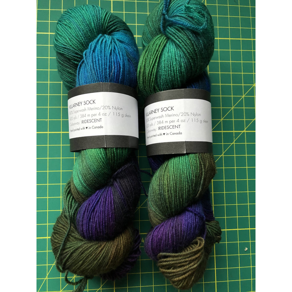 Blue Brick Killarney Sock Iridescent - Shoptinkknit