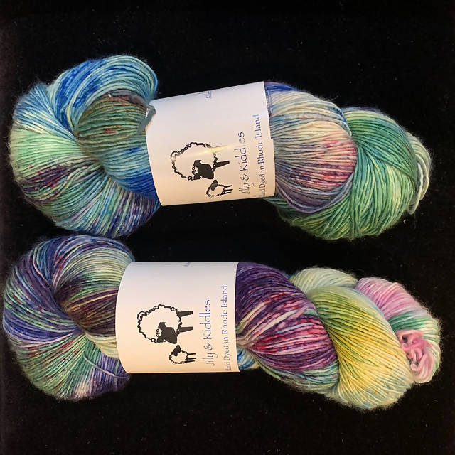Jilly & Kiddles Velvet Sock - Research Lab (2 Skeins Available & Sold Individually)
