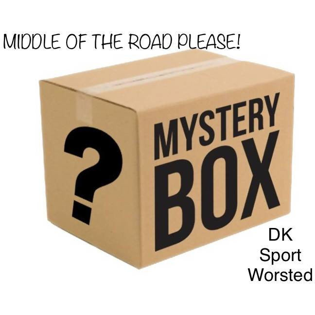 MYSTERY BOX OF YARN - MIDDLE OF THE ROAD PLEASE! - Shoptinkknit